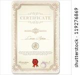 certificate template. vector... | Shutterstock .eps vector #119276869