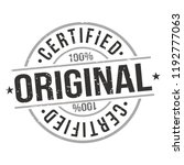 original certified quality... | Shutterstock .eps vector #1192777063