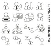 set of icons in line style ... | Shutterstock .eps vector #1192782349