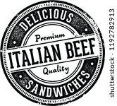 italian beef sandwiches vintage ... | Shutterstock .eps vector #1192782913