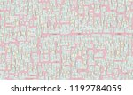 abstract pictorial geometric... | Shutterstock . vector #1192784059