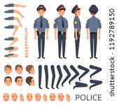 policeman constructor. security ... | Shutterstock .eps vector #1192789150