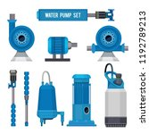 water pumps. industrial... | Shutterstock .eps vector #1192789213