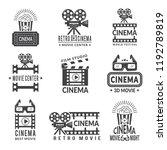 video labels set. cinema... | Shutterstock .eps vector #1192789819