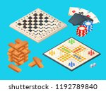 Board Games. Vector Isometric...