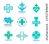 health symbols. medical signs... | Shutterstock .eps vector #1192789849