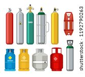 gas cylinders icons. petroleum... | Shutterstock .eps vector #1192790263