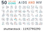 set of vector line icons with... | Shutterstock .eps vector #1192790290