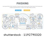 linear banner of phishing.... | Shutterstock .eps vector #1192790320