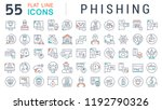 set of vector line icons of... | Shutterstock .eps vector #1192790326