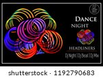 night dance party poster design ... | Shutterstock .eps vector #1192790683