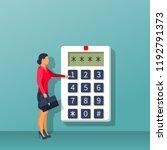 businesswoman in suit briefcase ...   Shutterstock .eps vector #1192791373