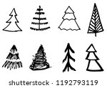 doodle hand drawn christmas... | Shutterstock .eps vector #1192793119
