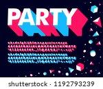 modern 3d geometric neon... | Shutterstock .eps vector #1192793239