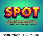 detailed text effect with... | Shutterstock .eps vector #1192793389