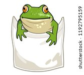 frog looking out of t shirt... | Shutterstock .eps vector #1192795159