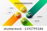 4 option business infographic...   Shutterstock .eps vector #1192795186