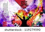 music event background. vector... | Shutterstock .eps vector #119279590