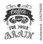 banner of coffee with... | Shutterstock .eps vector #1192796050