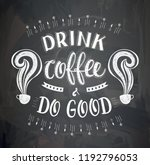vector cup of coffee with... | Shutterstock .eps vector #1192796053