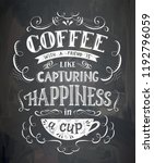 vector cup of coffee with... | Shutterstock .eps vector #1192796059