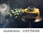 hookah hot coals on shisha bowl ... | Shutterstock . vector #1192796200