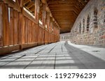 long tunnel in the interior of... | Shutterstock . vector #1192796239