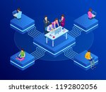 isometric concept for business... | Shutterstock .eps vector #1192802056