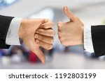 human hands showing agree sign... | Shutterstock . vector #1192803199