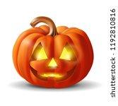 funny pumpkin for halloween ... | Shutterstock .eps vector #1192810816