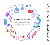 hand drawn genome sequencing... | Shutterstock .eps vector #1192811176