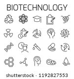 biotechnology related vector... | Shutterstock .eps vector #1192827553