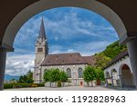 view of cathedral of st. florin ... | Shutterstock . vector #1192828963