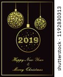 vector new year background 2019.... | Shutterstock .eps vector #1192830313
