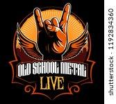 hard rock  heavy metal  sign of ... | Shutterstock .eps vector #1192834360
