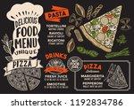 pizza menu template for... | Shutterstock .eps vector #1192834786