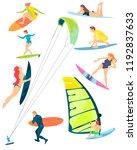 summer sports of active modern...   Shutterstock .eps vector #1192837633