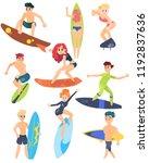 summer sports of active modern...   Shutterstock .eps vector #1192837636