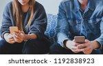 internet and social network... | Shutterstock . vector #1192838923