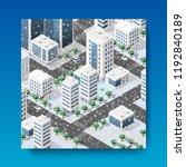 isometric city landscape... | Shutterstock .eps vector #1192840189