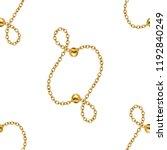 baroque golden chain   repeat... | Shutterstock . vector #1192840249