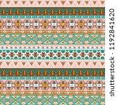 tribal art pattern. ethnic... | Shutterstock .eps vector #1192841620
