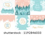 merry and bright christmas ... | Shutterstock .eps vector #1192846033