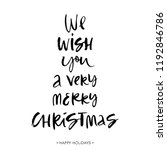 christmas wishes. holiday... | Shutterstock .eps vector #1192846786