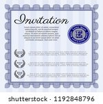 blue invitation. with quality...   Shutterstock .eps vector #1192848796