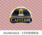 gold badge or emblem with bank ... | Shutterstock .eps vector #1192848826