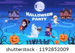 halloween party cartoon...   Shutterstock .eps vector #1192852009