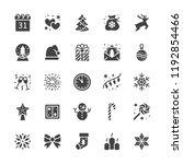 merry christmas flat glyph...