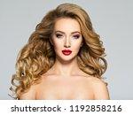 portrait of the blonde woman...   Shutterstock . vector #1192858216