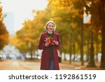 beautiful young woman with... | Shutterstock . vector #1192861519